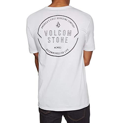 Volcom Herren Chop Around BSC S/S T-Shirt, White, M - Volcom-logos