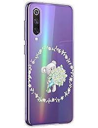 Oihxse Compatible con Xiaomi Redmi 6A Funda Cristal Silicona TPU Suave Ultra-Delgado Protector Estuche Creativa Patrón Protector Anti-Choque Carcasa Cover(Pereza A4)