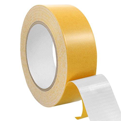 Teppichklebeband doppelseitig, Klebeband für Teppich, Teppichverlegeband, verschiedene Breiten, 25 m auf Rolle / 38 mm x 25 m