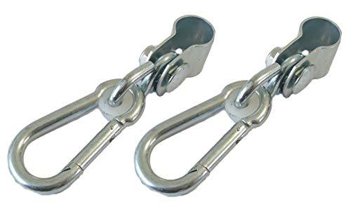 Rathgeber 1 Paar Premium Manschettenhaken für Türreck 30 mm (2 Stück) Schaukelschelle für Rundstange 30 mm