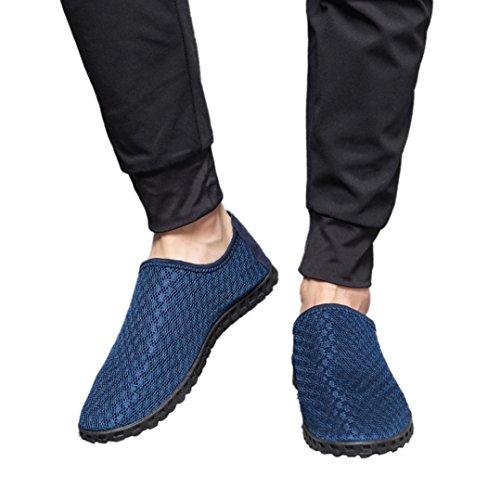 Cloom scarpe da uomo casual, scarpe da immersione da scoglio spiaggia ballo yoga materiale traspirante elastico antiscivolo super leggere unisex scarpe ragazzi donna uomini(blu scuro,42)