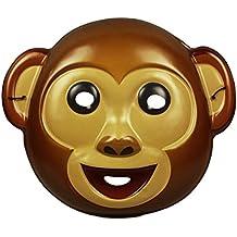 HAAC Máscara Mono Para Niños y Adultos color marrón Halloween Carnaval