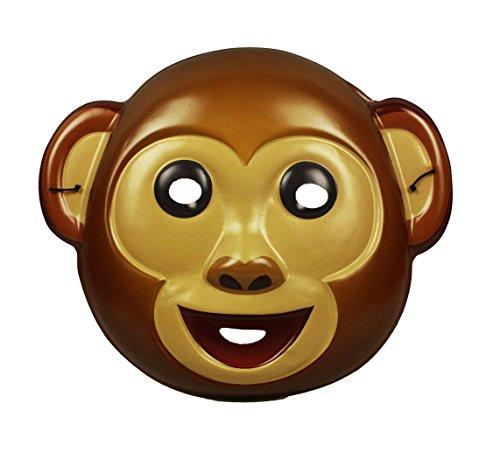HAAC Maske Affe für Kinder und Erwachsene Farbe braun Halloween Fasching Karneval
