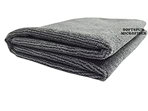 Softspun Microfiber Bath and Hair Care Towel, 60x120cm (Grey)