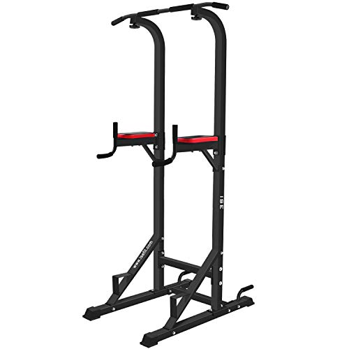 ISE 5in1 Power Tower Workout Dip Station, Multifunzionali Attrezzature per Il Fitness, Ideale Come...