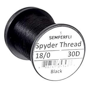 Semperfli Spyder Thread 30D, 18/0 (Schwarz)