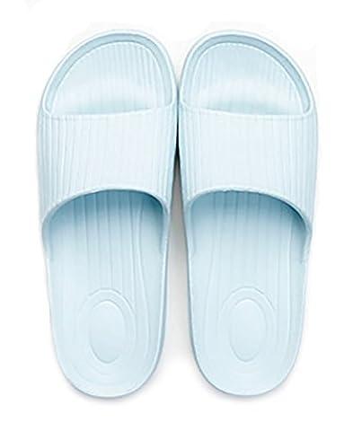 à enfiler Chaussons Antidérapant Douche Sandales Maison Mule doux mousse Semelle Chaussures de piscine de salle de bain Glissière pour adulte, bleu clair, uk 6.5-7(outsole