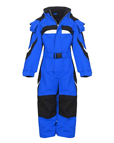 PM Kinder Outdoor Skianzug Snowboard Unisex Jungen Mädchen Funktionsanzug Hardshell Schneeanzug Winter LB1310, blau, 128