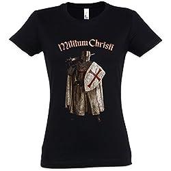 Urban Backwoods Templar III Mujer Girlie Women T-Shirt – Caballeros templarios del Templo Cross Knight Ordo Orden Crusade Crusader Tamaños XS – 2XL