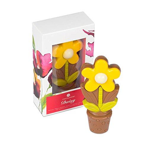Blume aus Schokolade, Schokolade Dekoration, Valentinstag Schokolade, Geschenk für Muttertag (Gelbe Schokolade)