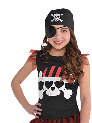Preisvergleich Produktbild erdbeerloft - Mädchen Karneval Kostüm Piraten Girl , Mehrfarbig, 128-140, 8-10 Jahre