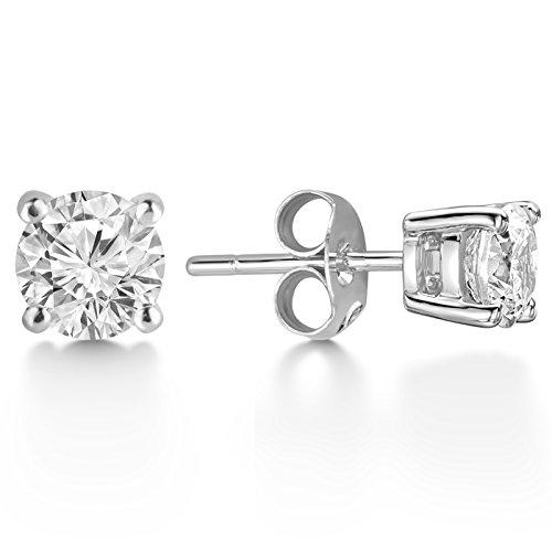 Billie Bijoux Damen-Ohrstecker Echt 925 Sterling Silber Ohrringe mit Zirkonia Diamant Strassstein, Frauen (Glitzer Echt Silber Tragen)