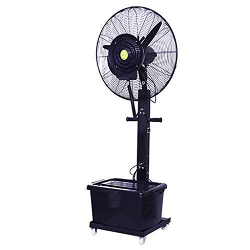 Standventilator Trommelventilator Luftbefeuchter Industrielle Spray Fan Kühlwasser Misting Elektrische Fan Outdoor Zerstäubung Hinzufügen Wasser Luftbefeuchter Ideal für den Außeneinsatz (Schwarz)