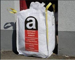 Asbest Big Bag 70x70x90cm Mini Big Bag passt durch die Eingangstüren