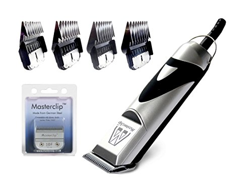 Masterclip Pedigree Pro Professional Dog Clipper Set with 10F German Steel blade and 4 Metal Comb Guards 1