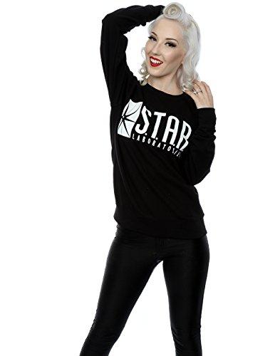 DC Comics Femme The Flash STAR Labs Sweat-Shirt Noir