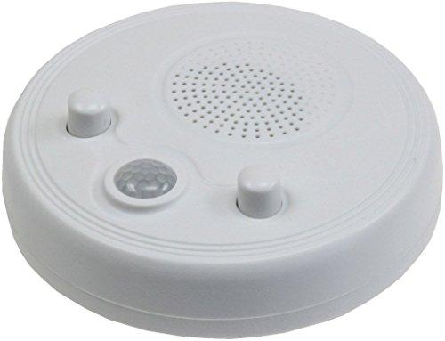 Wand Decken Radio mit PIR-Sensor, 360°, Ø 95mm, Batteriebetrieb, weiß