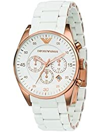 ARMANI High Quality Fashionable Famous Brand Imported Ceramic Watch, Stainless Steel Day And Date White+Gold Strap...
