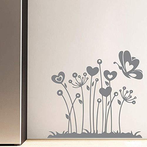 Vinyl wandaufkleber wand Schöne Blumen Muster Abnehmbare Wandtattoo Wohnzimmer Schlafzimmer Wanddekor 57 * 63 cm