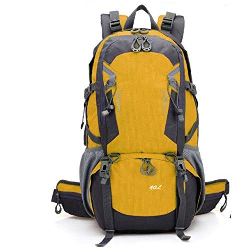 40L Outdoor Sports Wasserdichte Radfahren Tasche Wandern Camping Rucksack Reise Rucksack,Red Yellow