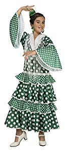 My Other Me Me-203851 Disfraz de flamenca giralda para niña, Color verde, 5-6 años (Viving Costumes 203851