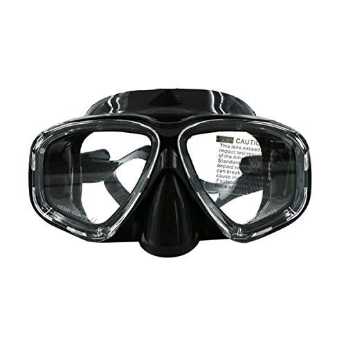guoxuEE Masque de Masque de plongée Adulte en Silicone imperméable Double Couche AM-308 - Noir