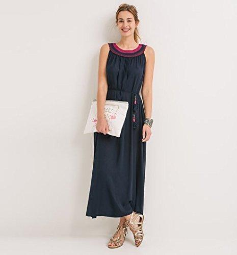 Promod Longue robe col collier Femme Marine