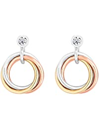 1f7e0d96c Simply Silver Women's Sterling Silver 925 Multi-Coloured Cubic Zirconia  Knot Drop Earring