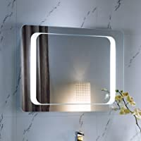 Amazon light bathroom mirrors bathroom accessories home 800 x 600 mm illuminated led bathroom mirror light with sensor demister ml2112 aloadofball Gallery