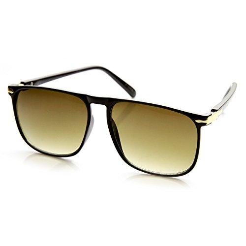 ZeroUV -  Occhiali da sole  - Aviatore - Uomo Black-Gold Smoke-Gradient