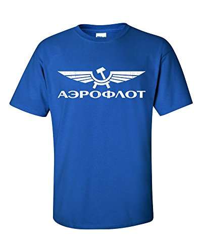 Aeroflot Russia Airlines T-Shirt Königsblau