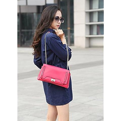 GQQ NUEVOS bolsos de hombro bolsos moda vaca cuero partido para la parte comercial y bolsa de trabajo GQ @ , nine red