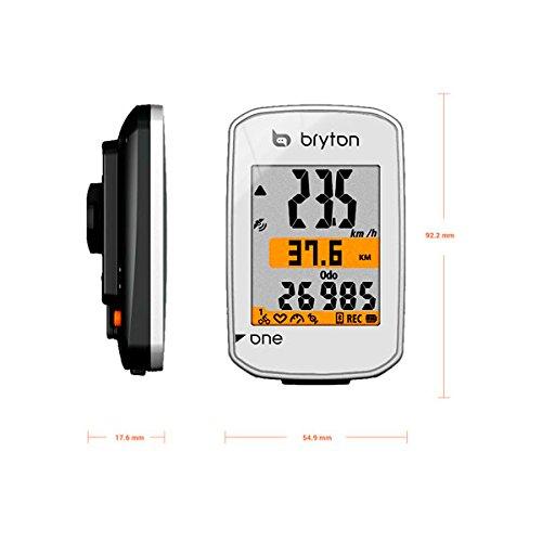 Bryton Rider One Computer GPS senza Sensore di Cadenza, Bianco, ND