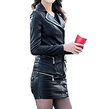 Veste simili cuir femme marron clair