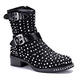 Schuhtempel24 unterstreicht deinen Style ? Verschiedene Damenschuhe in einzigartiger Optik veredelt mit Nieten Schnürung Schnallen Glitzersteinen UVM I Stiefeletten Boots Kurzstiefel Damenstiefel