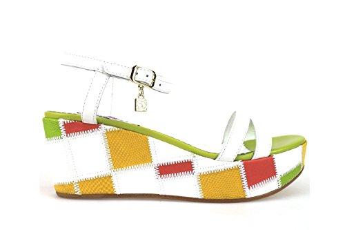 scarpe donna BRACCIALINI sandali multicolor pelle AH379 (37 EU)