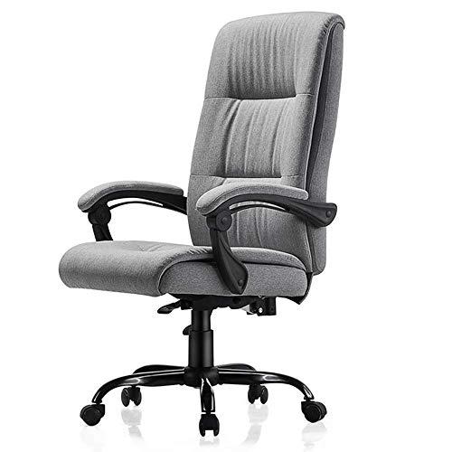 Anac Bürostuhl Computertischstuhl mit hoher Rückenlehne, Verstellbarer Stuhl Ergonomischer Chef Executive Management Drehbarer Bürostuhl mit gepolsterten Armlehnen (Color : Gray)
