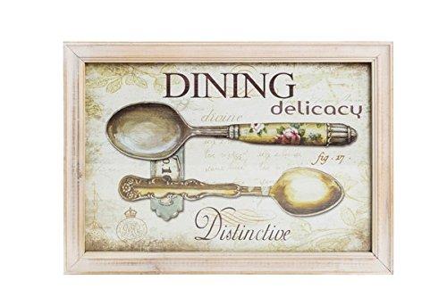 QUADRO DECORATIVO Shabby Chic Legno Dining 23x33 cm