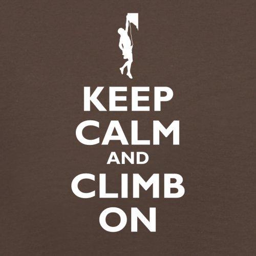 Keep Calm and Climb On - Herren T-Shirt - 13 Farben Schokobraun