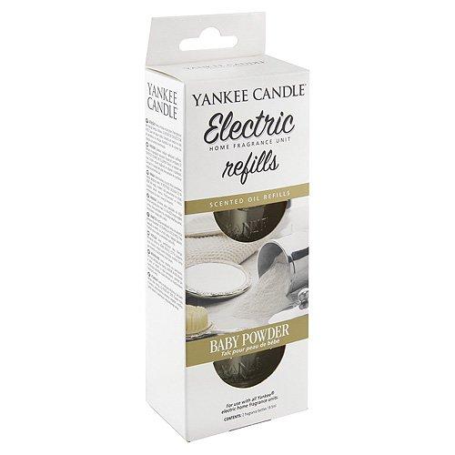 YANKEE CANDLE 1509032E Baby Powder diffusore Elettrico Doppio Confezione di Ricarica, 4.5x7x17 cm