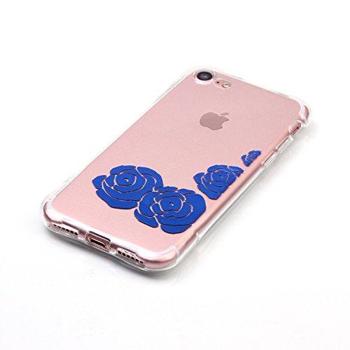 inShang iPhone 7 Plus Hülle cover 4,7 Plus inch [Transparent iPhone 7 Plus Cover] [Bronzing-Technologie 3D-Bild], Ultra Schlank und leicht TPU Bequem Schutzhülle Rückcover (Back Case) design für Handy 02