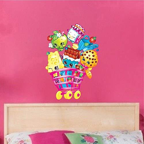 M?dchen Shopkins Schlafzimmer Wandtattoo Cartoon Kinderzimmer Wand Vinyl Removable Art Spielzeug Einkaufen Spielzeug Kinder Wand Klammern Spa? Spielen s66