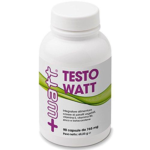 +Watt Testowatt 90 cpr. Stimolante Testosterone con Tribulus Terrestris Maca Zinco e Cordyceps