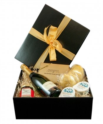 Simply Cornish Hampers Simply Cornish Champagne Treat In a Black Gift Box