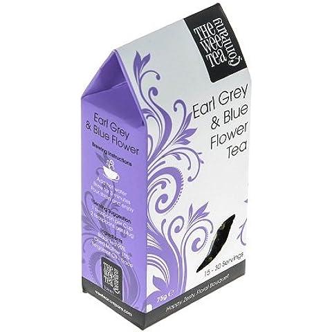 Il Conte grigio e blu fiore tè