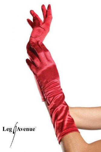Lavendel Satin-handschuhe (Leg Avenue - Satin-Handschuhe bis zum Ellbogen - 8B, Farbe:Lavendel;Groesse:One Size)