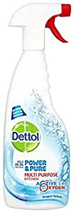 Dettol Power and Pure Multipurpose Kitchen Spray 750 ml (Pack of 3)