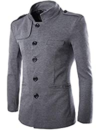 Manteau Homme Laine Hiver Chaud Trench-Coat Caban Élégant Blouson Parka  Veste Slim Fit Casual 34ab7061e321