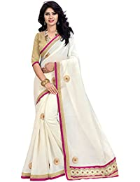V.CLOTHY Women's Cotton Silk Saree With Blouse Piece (HB_F_ Sarees__Free Size)