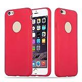 Cadorabo Custodia per Apple iPhone 6 / iPhone 6S in Candy Rosso - Morbida Cover Protettiva Sottile di Silicone TPU con Bordo Protezione - Ultra Slim Case Antiurto Gel Back Bumper Guscio